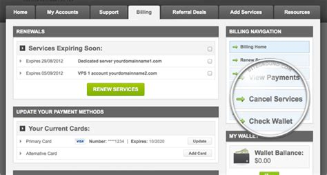 Billing Section by Payments Invoices Cancellations