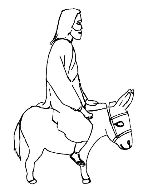 coloring page jesus rides into jerusalem jesus enters jerusalem on a crossmap