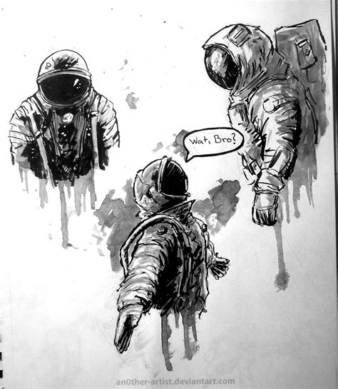 Sketches By Artists by Astronaut Sketches By An0ther Artist On Deviantart
