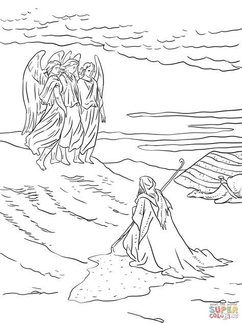 disegno di abramo e i tre angeli da colorare disegni da