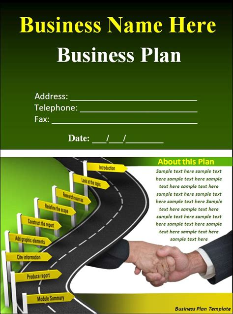 business plan template download page word excel formats