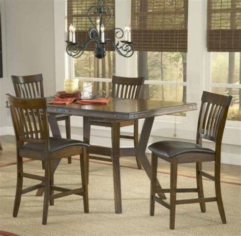 height piece rich: hillsdale arbor hill counter height  piece dining set by hillsdale