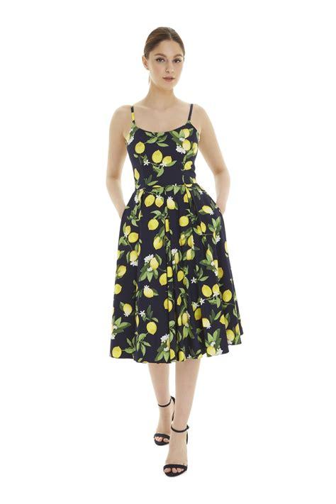 Dres Emon the pretty dress company priscilla in lemon print