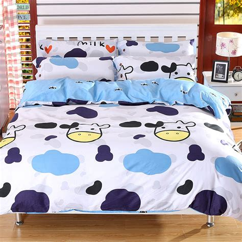 Bedcover Set Uk Kingsize 4 popular cow print bedding buy cheap cow print bedding lots