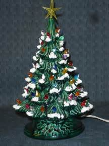 green glazed ceramic christmas tree 13 inch version