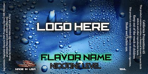 Labels E Juice Label Template
