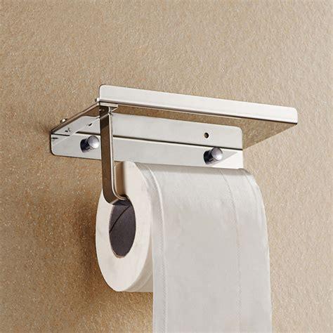 toilet paper holder with shelf chrome stainless steel bathroom paper holder toilet tissue