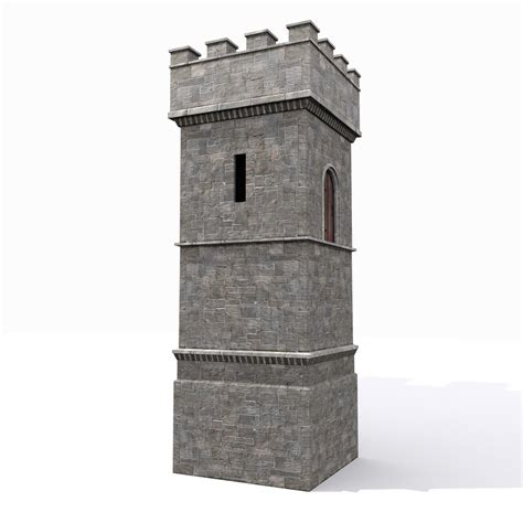 Native House Design by Max Medieval Square Castle Tower