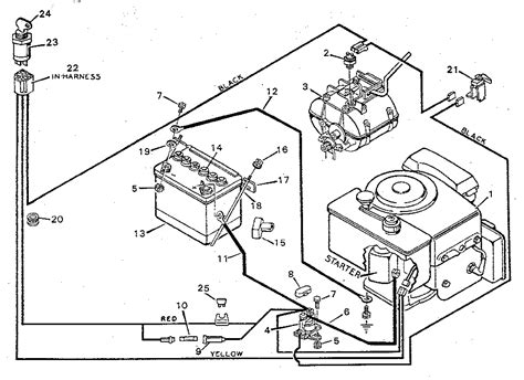 electrical schematic for lawn mower schematic diagram