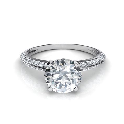 pave engagement rings two row knife edge pav 233 engagement ring