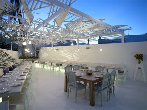 design a greek menu phos greek restaurant in mykonos greece interior