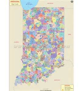 Indiana Zip Code Map by Buy Indiana Zip Code Map From Online Map Store