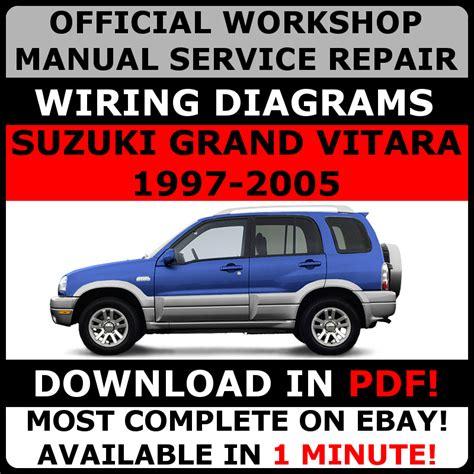 vehicle repair manual 2010 suzuki grand vitara security system official workshop service repair manual for suzuki grand vitara 1997 2005 ebay