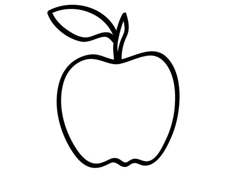 apple coloring pages kindergarten outline drawing line drawing painting