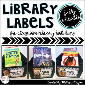 contains mostly with a color classroom library labels editable classroom ideas