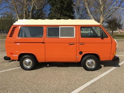 volkswagen original interior 1980 vw vanagon westfalia cer with 44k all