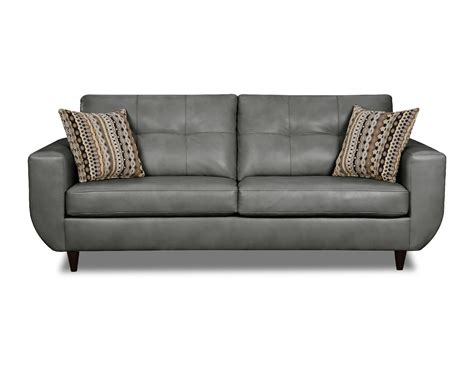 Simmons Gray Jamestown Bonded Leather Sofa Shop Your Way