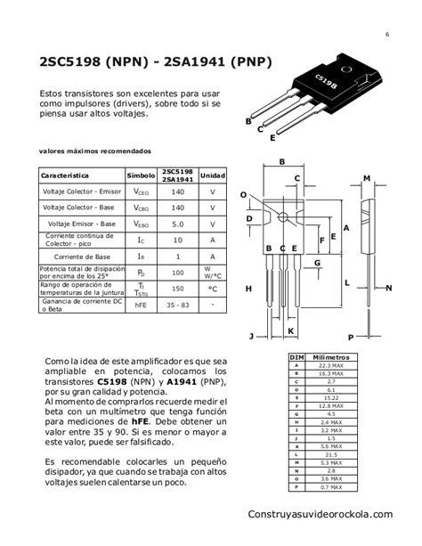 transistor npn c2073 espectrum
