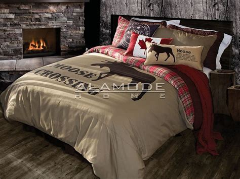 moose bedding quot lamington quot moose crossing duvet cover by alamode for