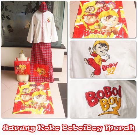 Sarung Anak Boboiboi Merah Size Xl Baju Koko Boboiboy Merah Xl Belimukena