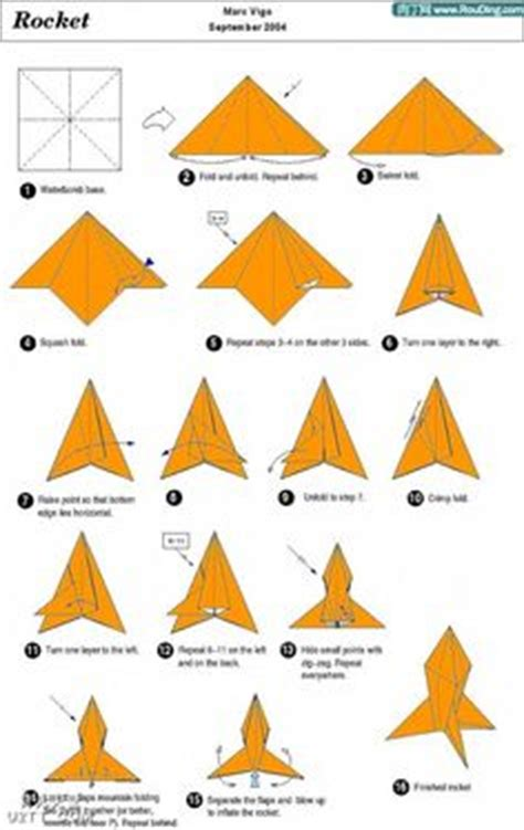 How To Make A Paper Rocket Step By Step - 1000 images about origami changing the world one fold at