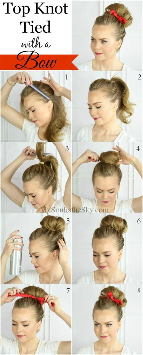 Big Bow Side Top turn up your top knot this bun is easy to do and adding a