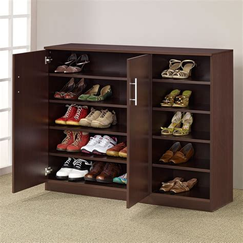 shoe furniture storage furniture of america grande multi purpose shoe cabinet