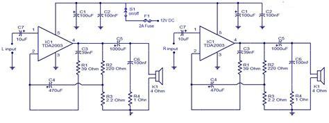 Ic Tda 2003 Ic St Audio Lifier schematic wiring diagram car audio lifier using