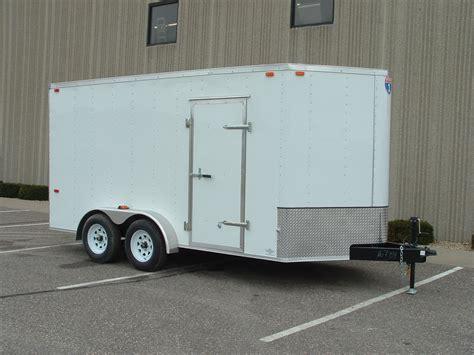 trailer white sfc714ta2 interstate 7 215 14 v nose enclosed trailer r