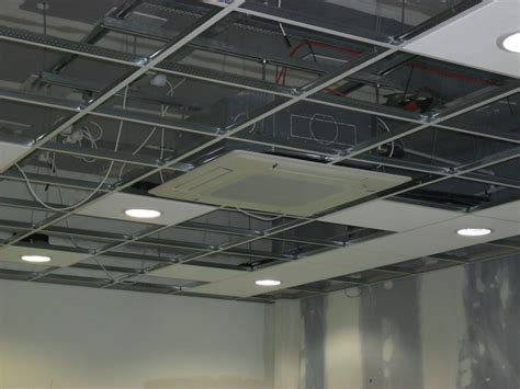 Suspended Ceiling Tiles Installation by Installing Suspended Ceilings Closely Perch