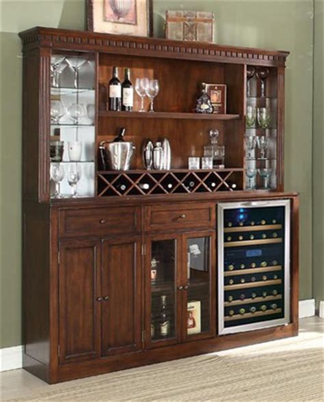 distressed walnut back bar w hutch by e c i furniture