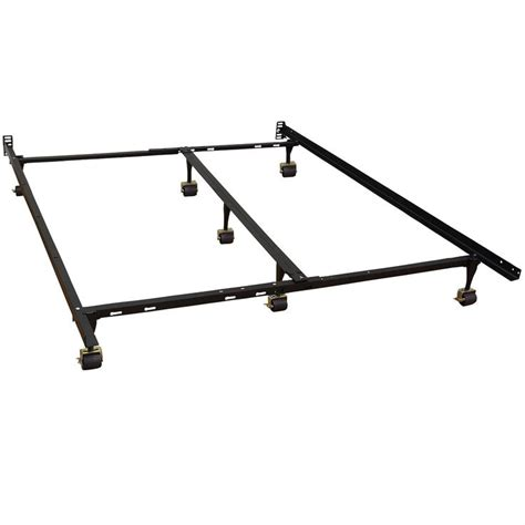 California King Size Metal Bed Frame With 7 Legs Locking Bed Frame Wheels