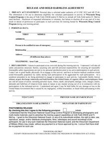 indemnity form template free 40 hold harmless agreement templates free template lab