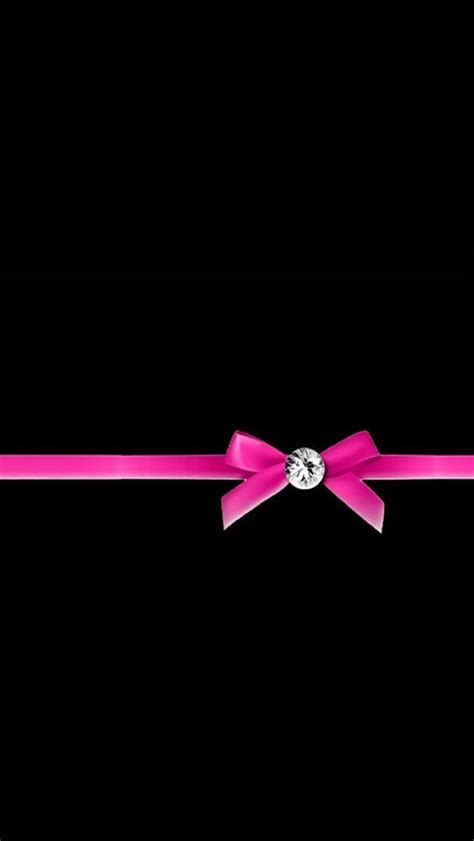 pink ribbon bow iphone wallpaper background iphone