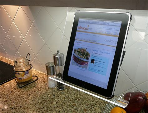 Kitchen Tablet Holder by Kitchen Holder 187 Gadget Flow