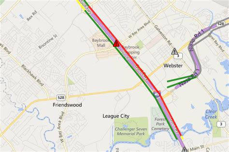 houston transtar map big slowdowns expected this weekend on i 45 gulf freeway houston media