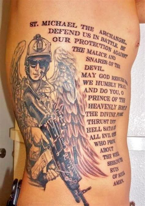 st michael police tattoo 10 best religious tattoos images on