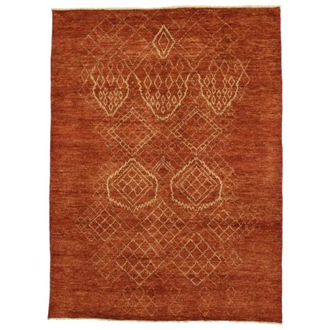 Modern Style Rugs Contemporary Moroccan Style Area Rug With Tribal Design For Sale At 1stdibs