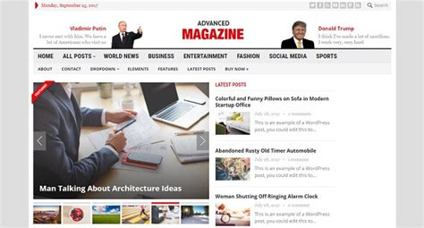 theme advanced newspaper advanced magazine v1 1 responsive wordpress newspaper