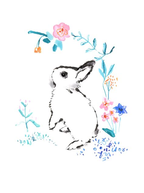Nd Hotot Nd hotot bunny illustration print limited edition