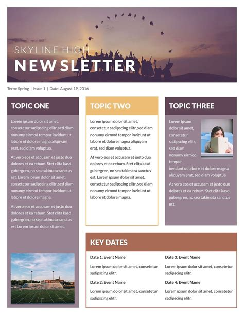 One Page Newsletter Template Best Business Template One Page Newsletter Template
