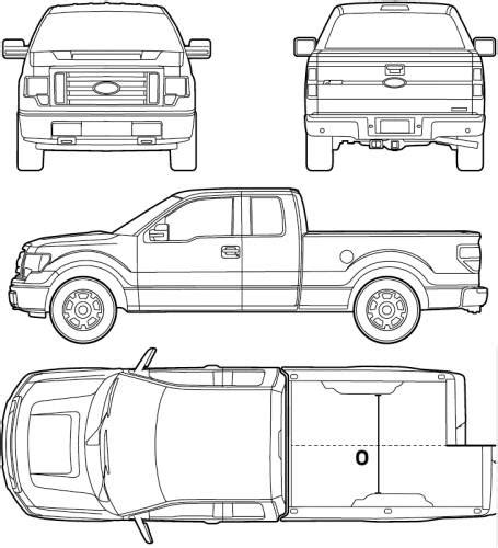 ford f150 dimensions the blueprints blueprints gt cars gt ford gt ford f 150