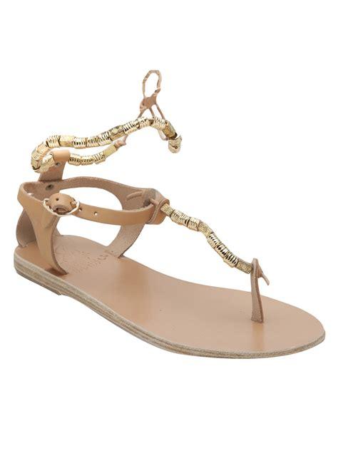 ancient sandal ancient sandals beaded sandal in beige