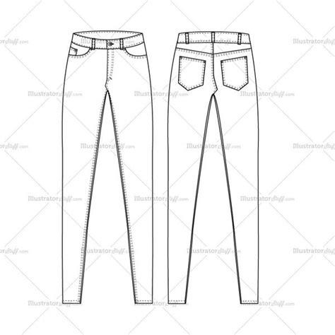 free jeans pattern illustrator women s super skinny high waist jeans fashion flat