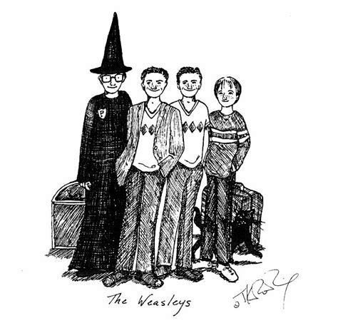 J K Rowling Sketches by Jk Rowling Harry Potter Sketches Released On Pottermore Time