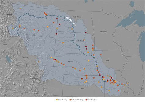 map of usa missouri river the way of water missouri river basin water security