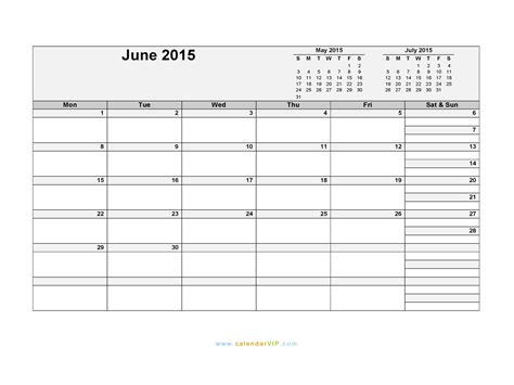 printable schedule june 2015 june 2015 calendar blank printable calendar template in