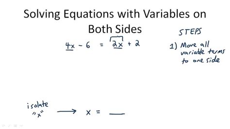 Multi Step Equations Worksheet Variables On Both Sides by Worksheetworks Solving Multi Step Equations Variables On