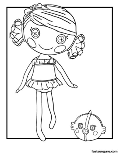 lalaloopsy coloring pages nick jr lalaloopsy pets coloring pages patch treasurechest page s