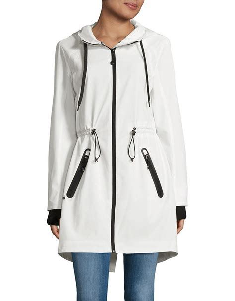 Drawstring Hooded Jacket michael michael kors stretch drawstring hooded jacket in